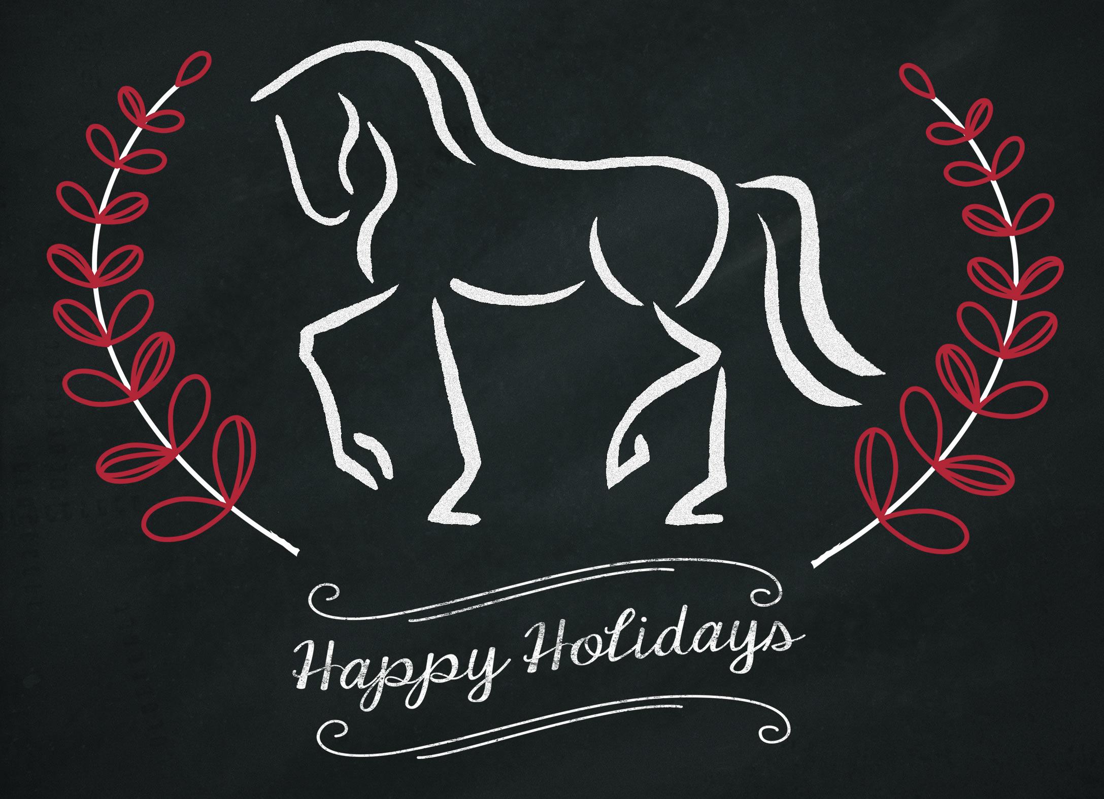 Holiday Card for SaddleLockers