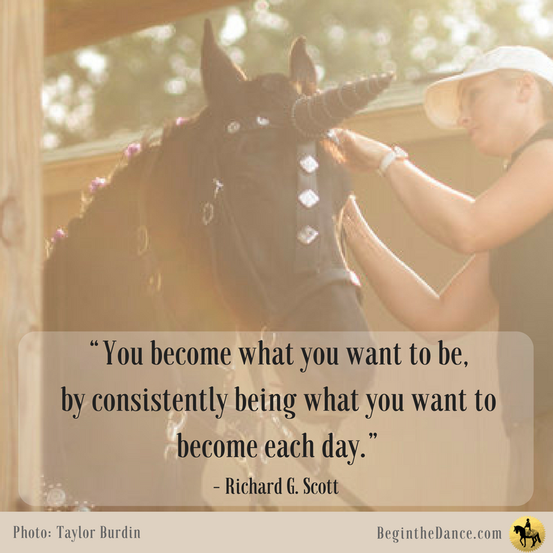 Horse Quotes Richard Scott Equine Inspiring Unicorn Friesian Sandra Beaulieu Begin the Dance Motivation Success.png