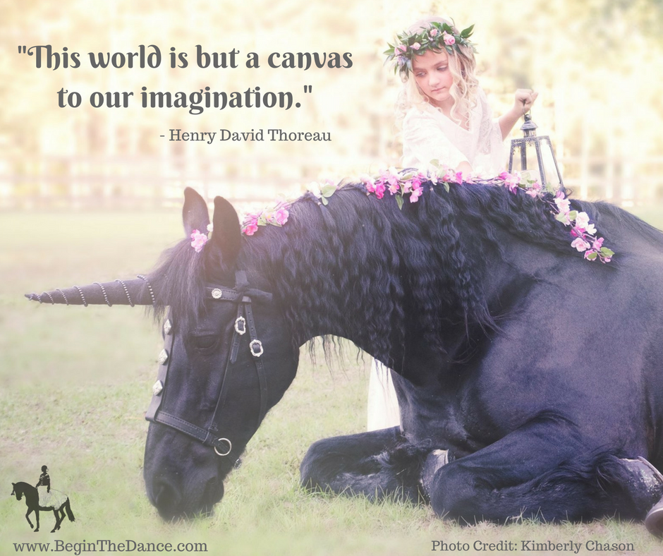Unicorn Quotes Inspiring Magic Imagination Henry David Thoreau flower girl fantasy fairytale Friesian horse Sandra Beaulieu Kimberly Chason.png