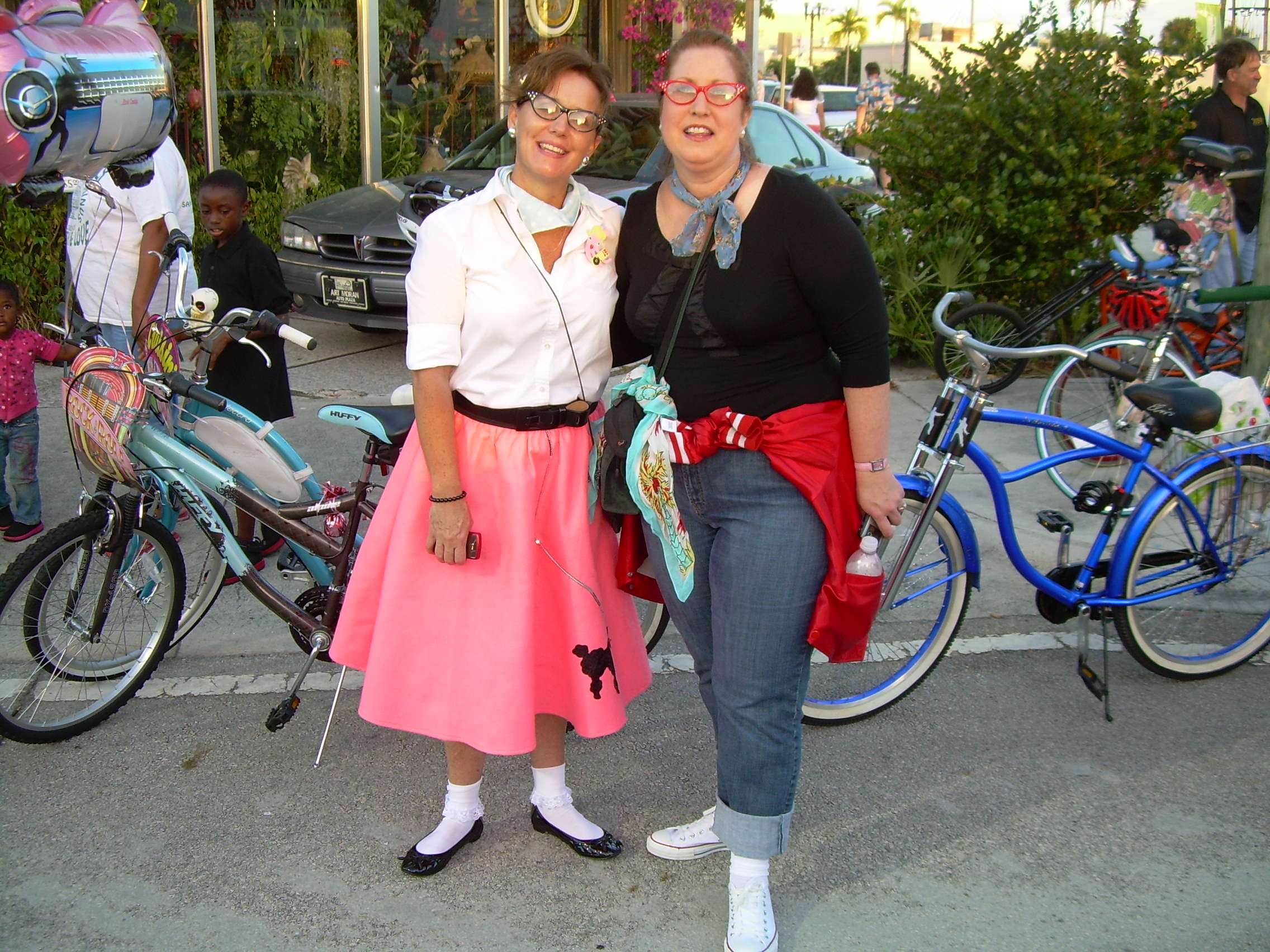 Two crazy gals in 2009.