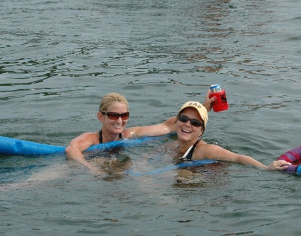 Marci and me on Greers Ferry Lake in Arkansas where she now lives.