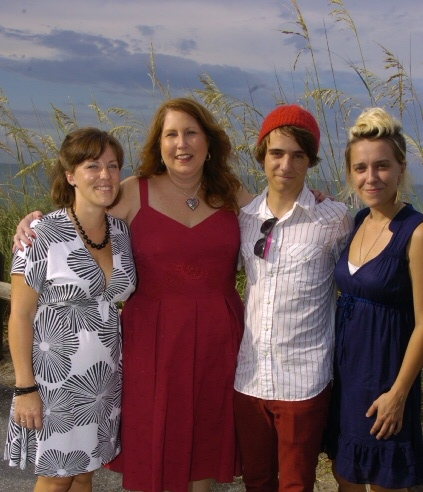 Auntie Belinda with her fan club, my children.