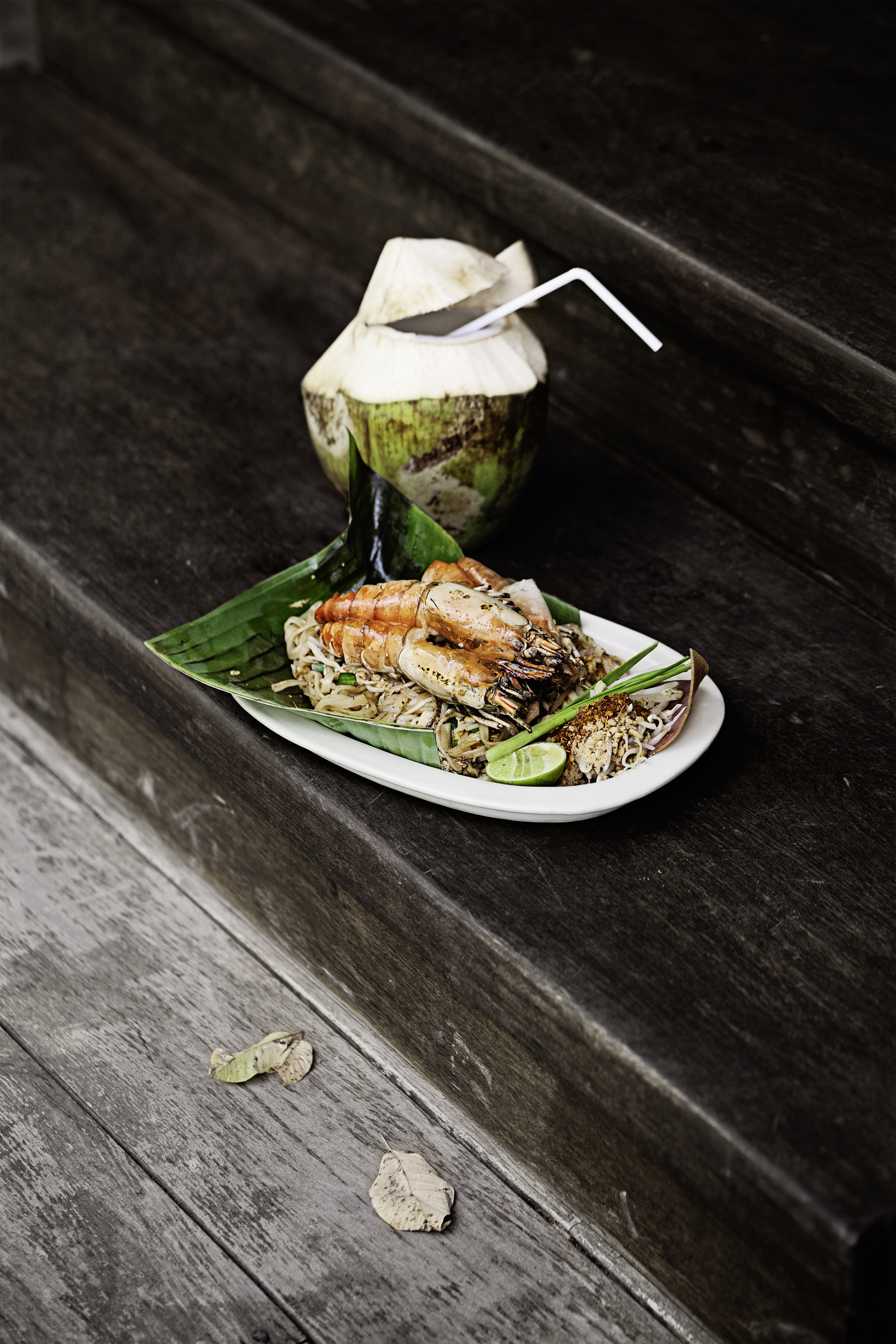 River Prawns Pad Thai at Six Senses, Yao Noi