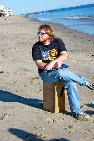 Director on Beach
