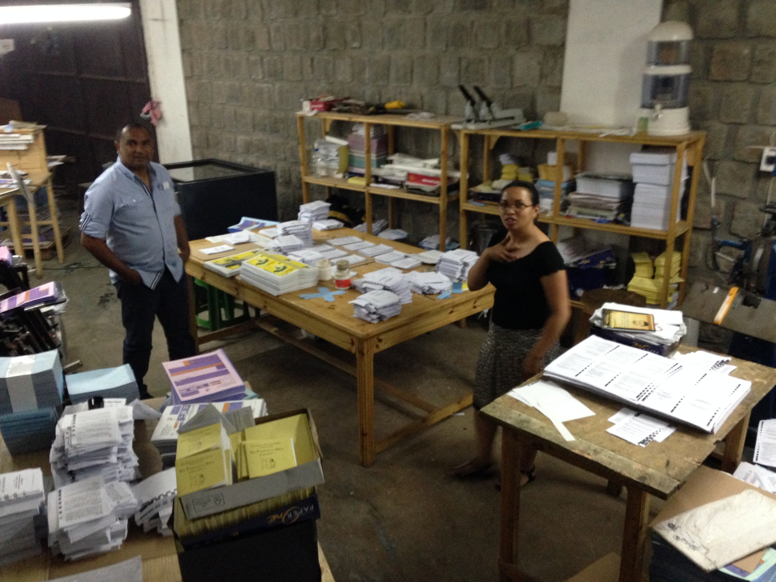 Joary and Iva share how Biblical Entrepreneurship (BE) has helped their print shop business.