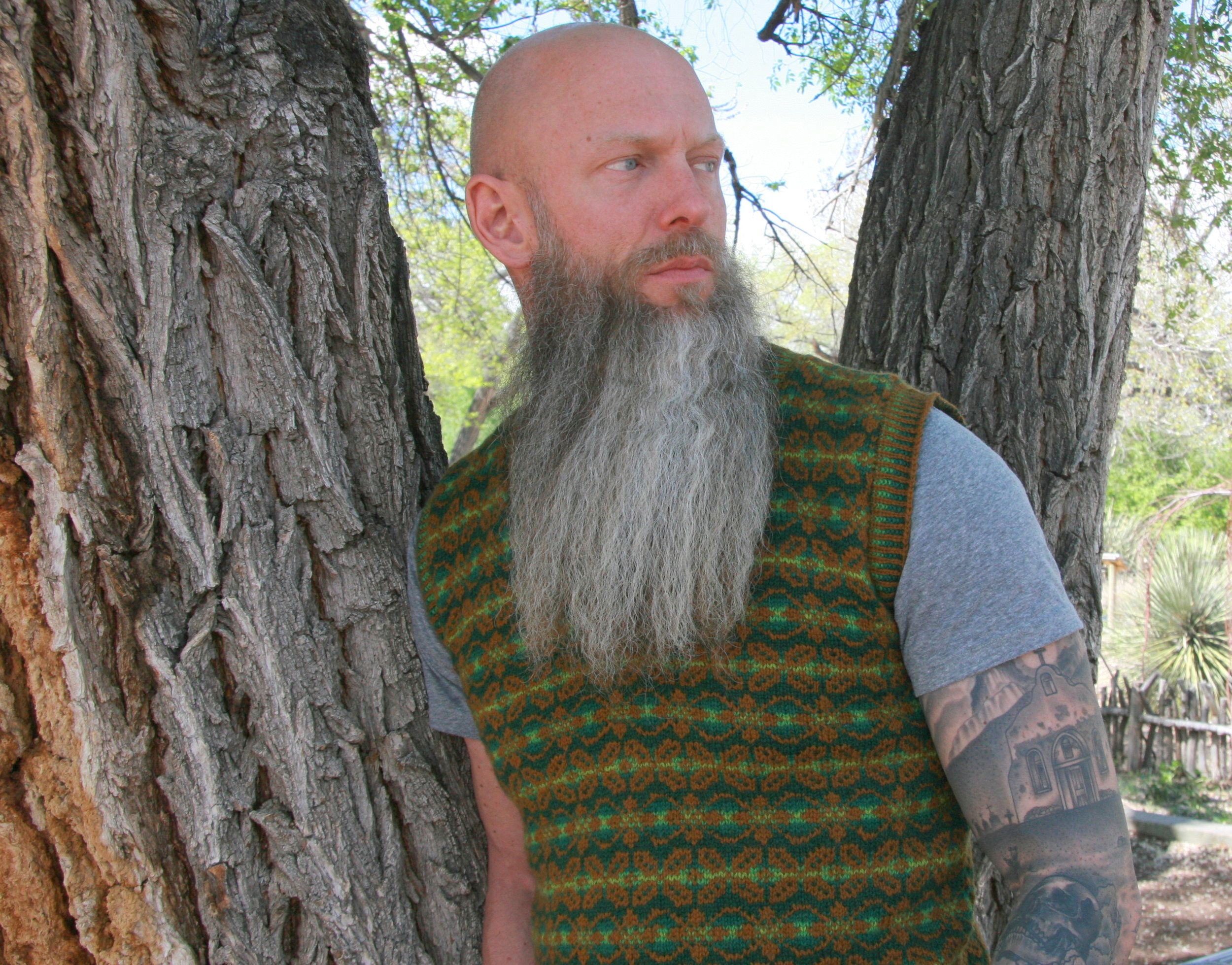 Beltane Vest shown here in Finullgarn wool