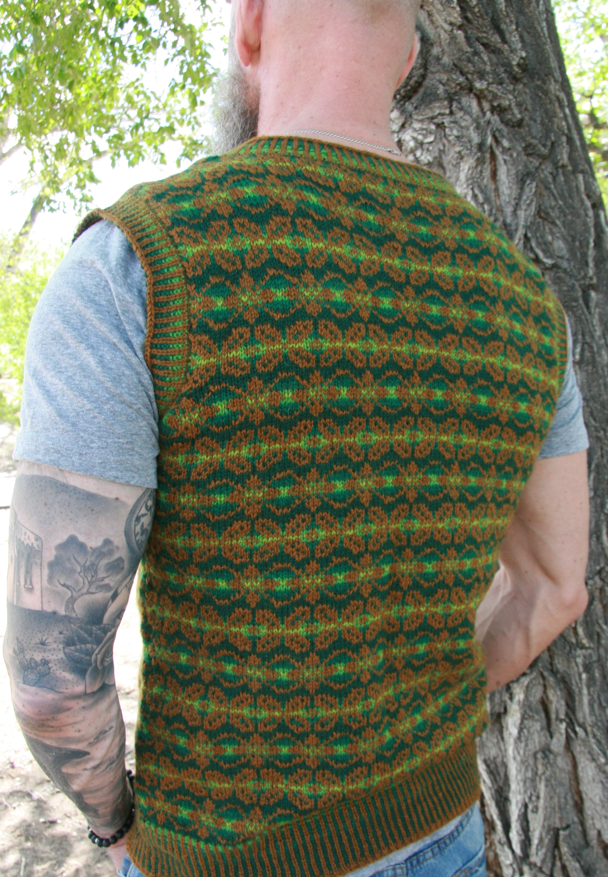 Beltane Vest - Back view