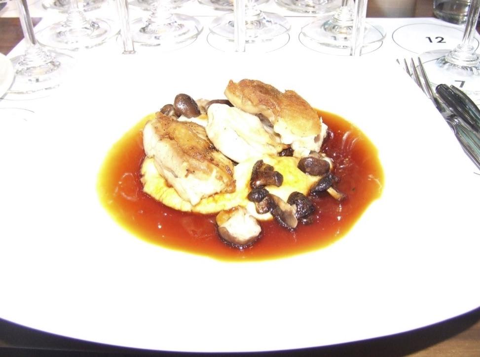 Sous Vide Chicken Thigh - onion mashed potato, wild mushrooms, lemon zest