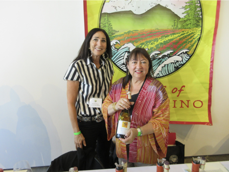 Beverly and Proprietress Moira Conzelman of Harmonique Wines poured some beautiful 2010 Pinots.