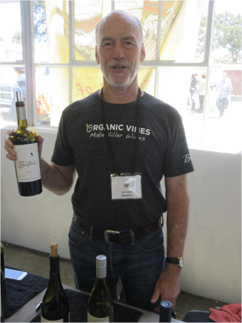 There's a good reason why Joel Clark, Brand Ambassador for Fetzer Vineyards is smiling. He's holding the best Merlot at the event. Look around and you'll find this 2014 organic Merlot fairly priced because the parent company, Concho y Toro, has a commanding marketing presencw
