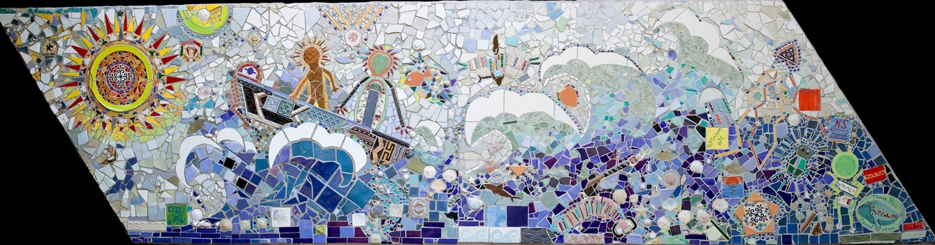 Maritime Cultures. 4x12'. Salvaged Tiles.