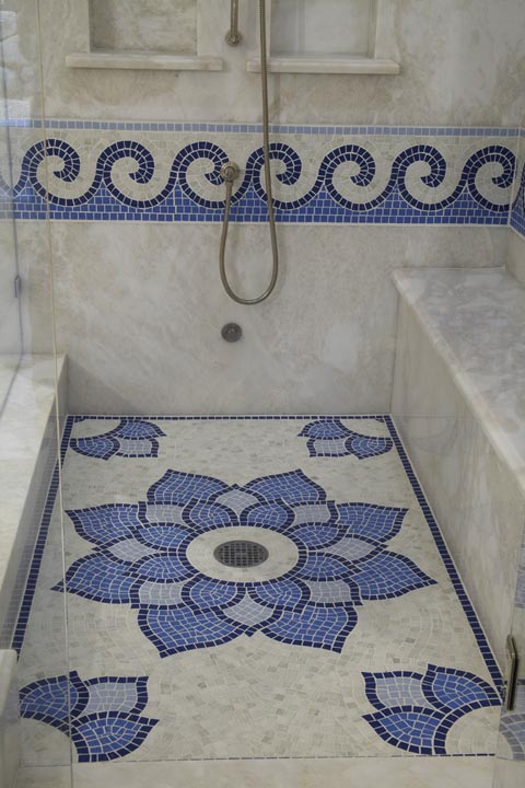 MOSAIC JACUZZI AND SHOWER