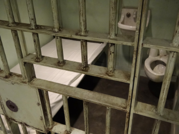 Recreation of Luther's cell in the Birmingham Jail, National Civil Rights Museum.