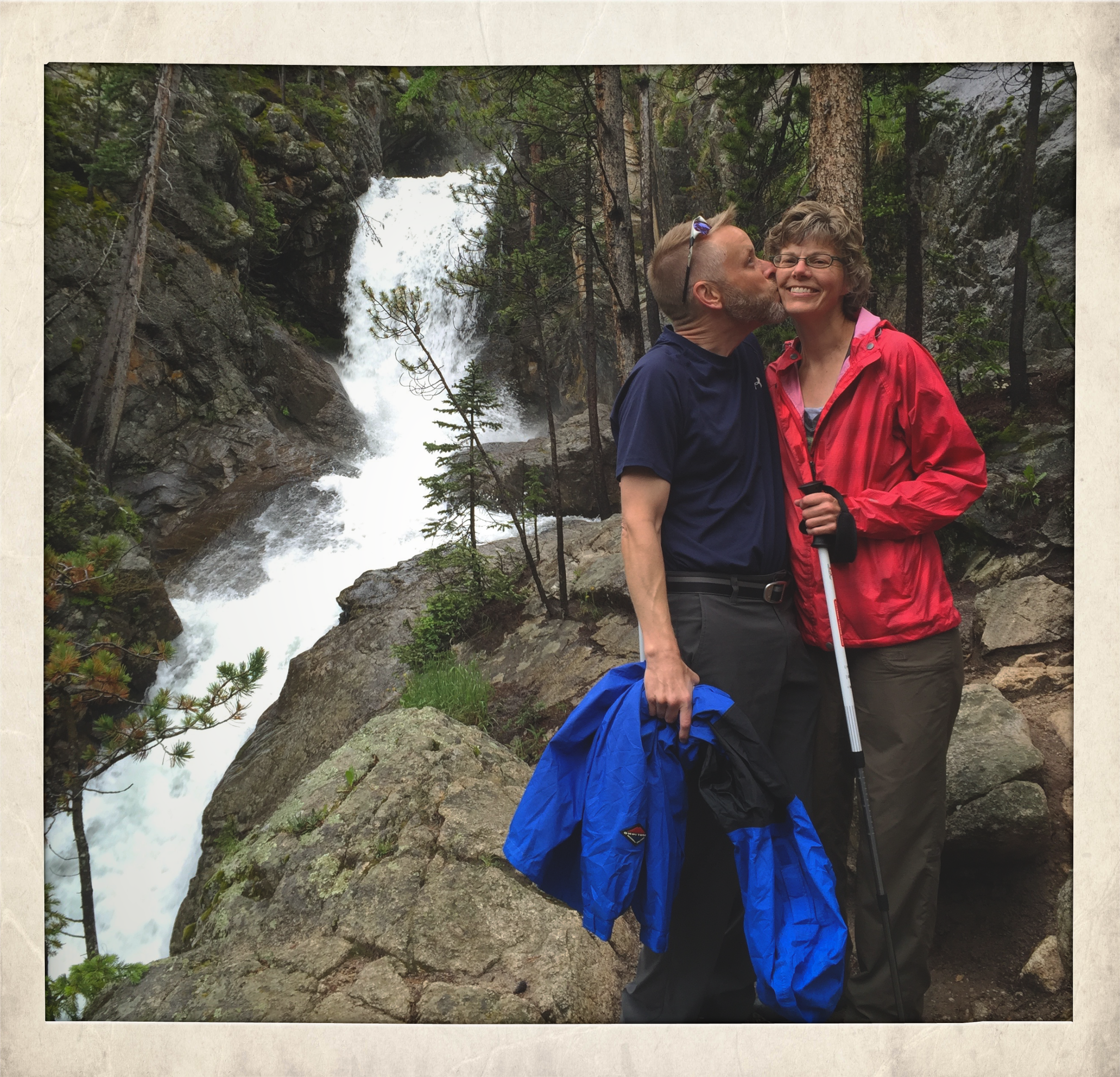 Susan and I hiking in colorado with our best friends.