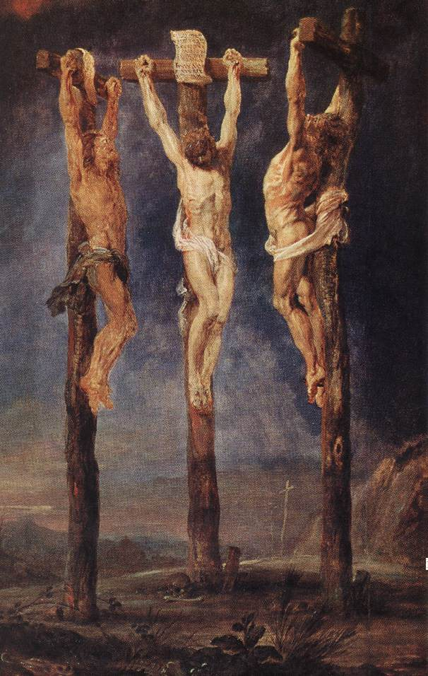 The Three Crosses , by Peter Paul Rubens
