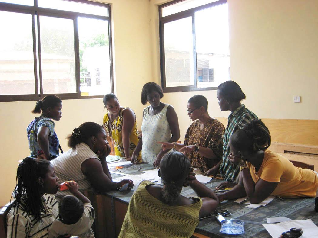 Global Mamas Patternmaking Workshop Cape Coast, Ghana, 2007