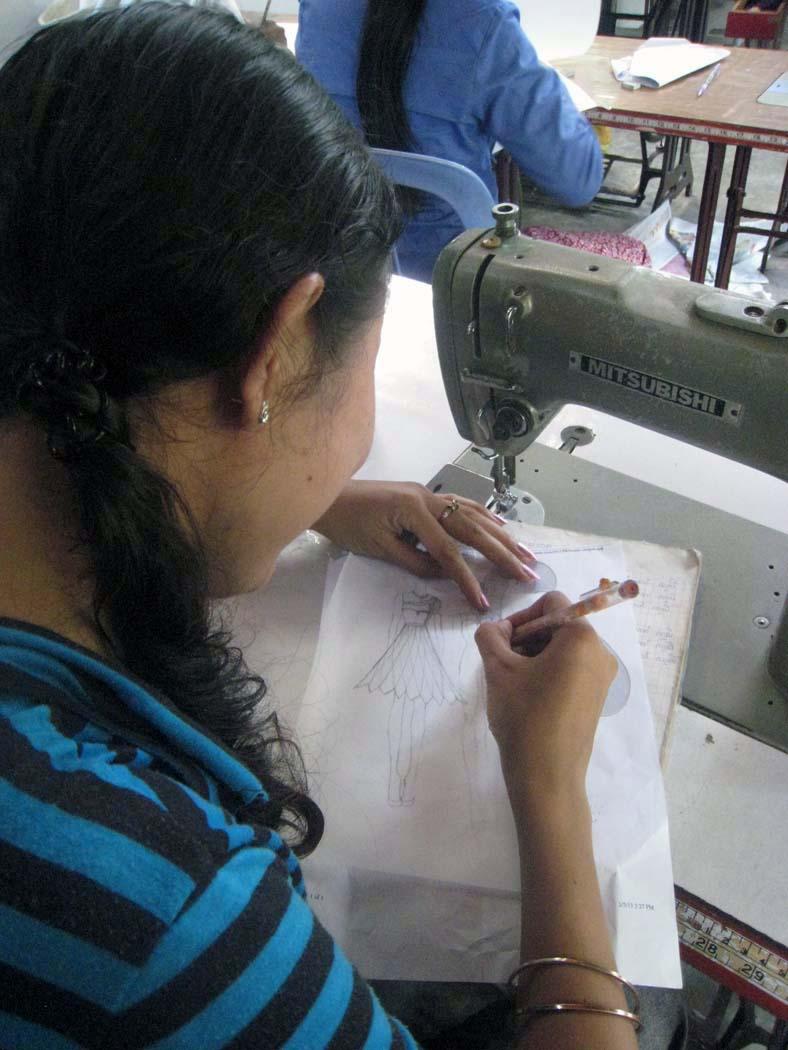LHA/Park Hyatt Sewing School Student Sketching