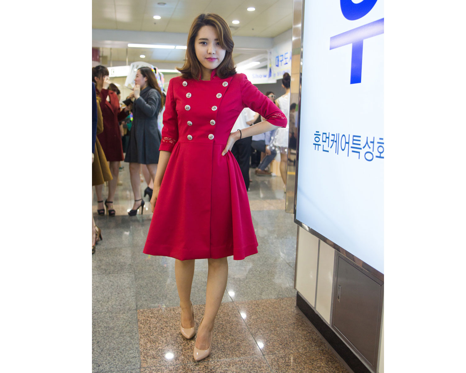 Tailored Wool Coat Dress