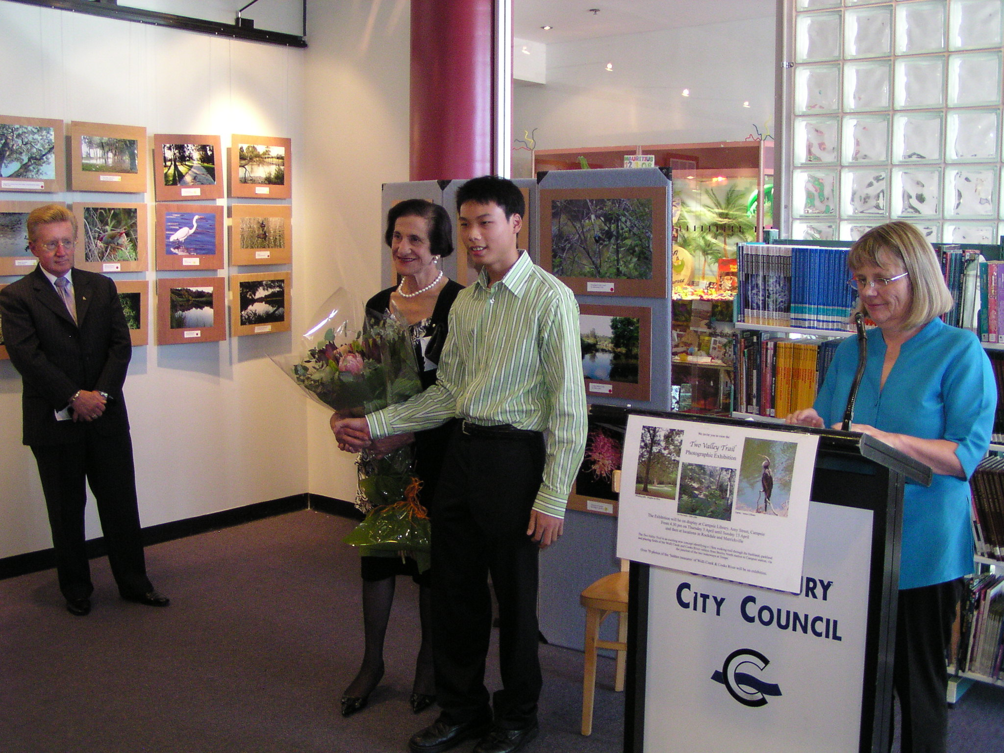 At the opening of Two Valley Trail Photo exhibition