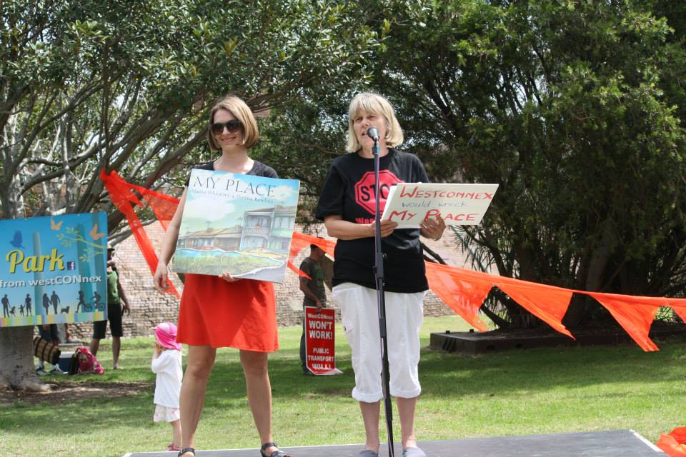 At anti-Westcoonnex rally, St Peters, 2015