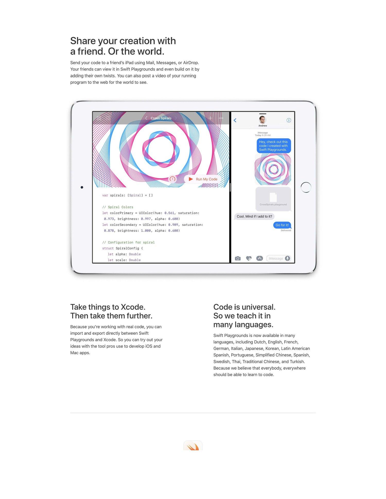 Apple - Swift Playgrounds — Liz Marks