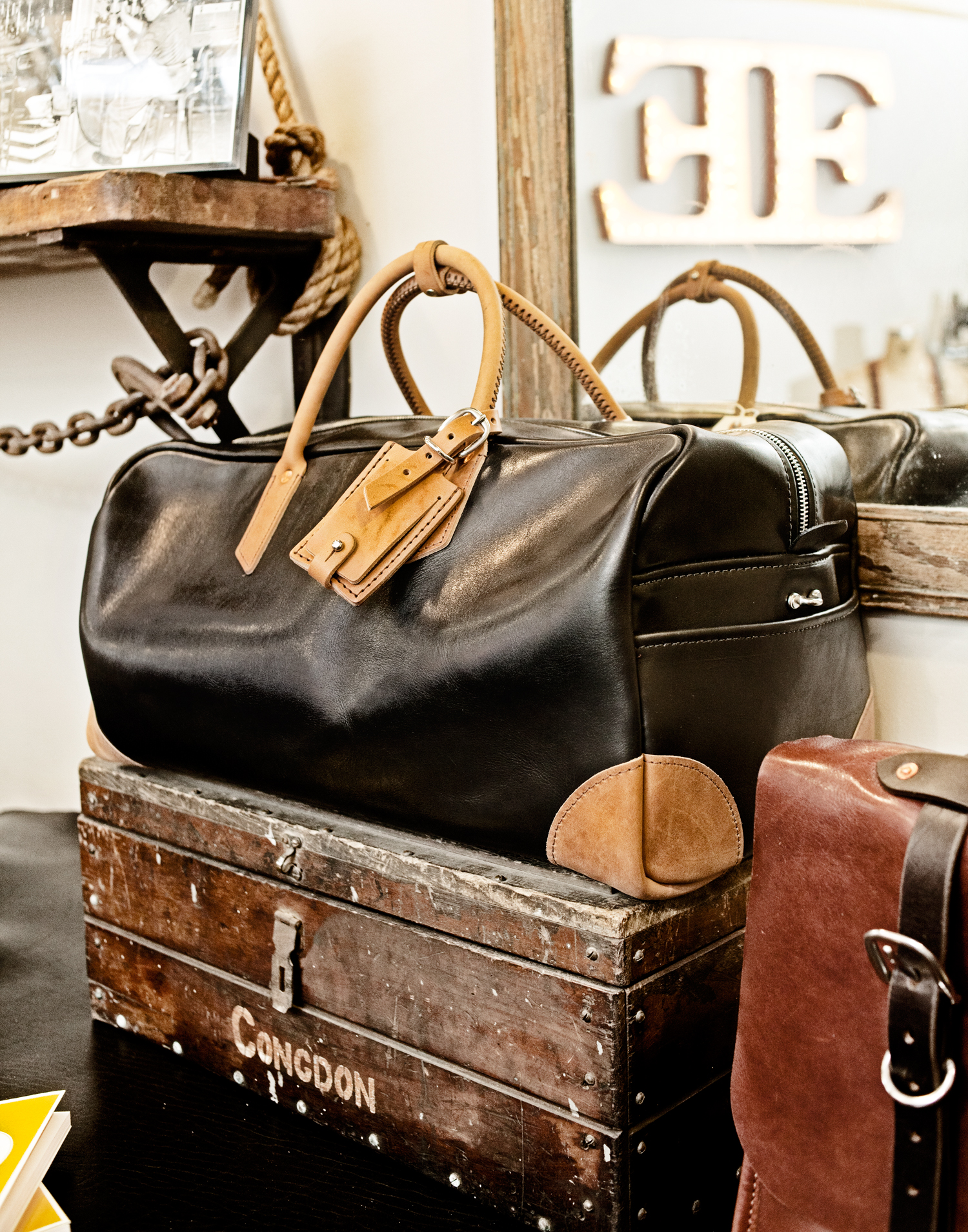 A handcrafted Emil Erwin men's bag. Emil Erwin hand makes luxury leather bags and accessories.