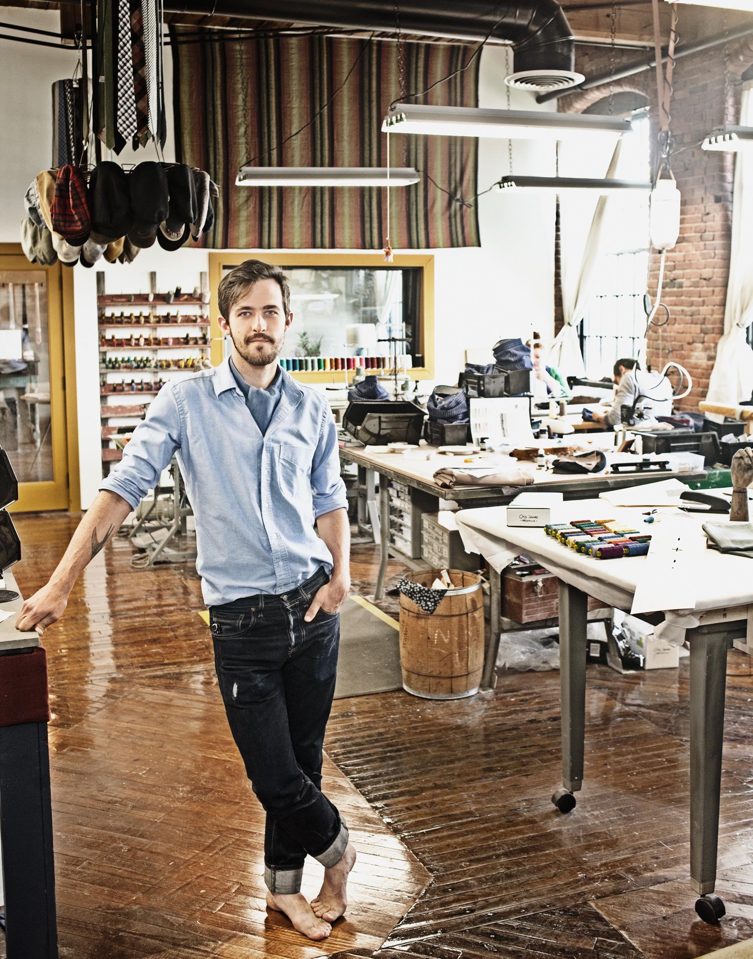 Otis James, designer of handcrafted ties, Otis James Nashville