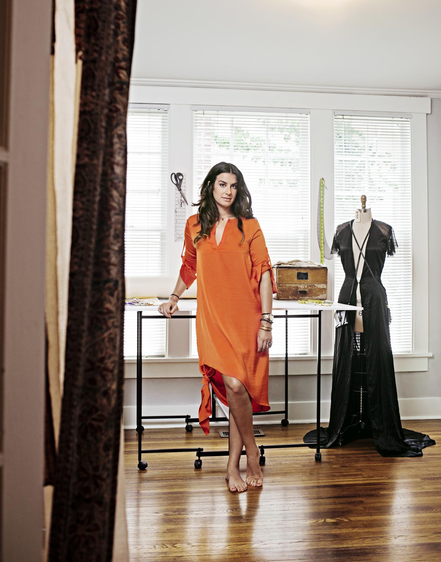 Brooke Hagaman, designer of vintage inspired swimwear, Bone Feather