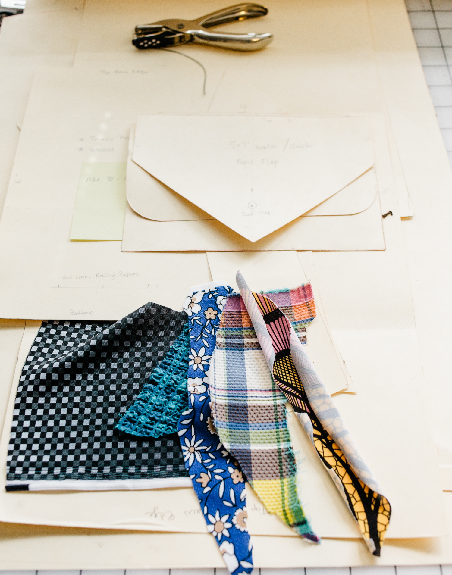 Detail in Brooke Hagaman's studio. Brooke designs vintage-inspired swimwear, Bone Feather.