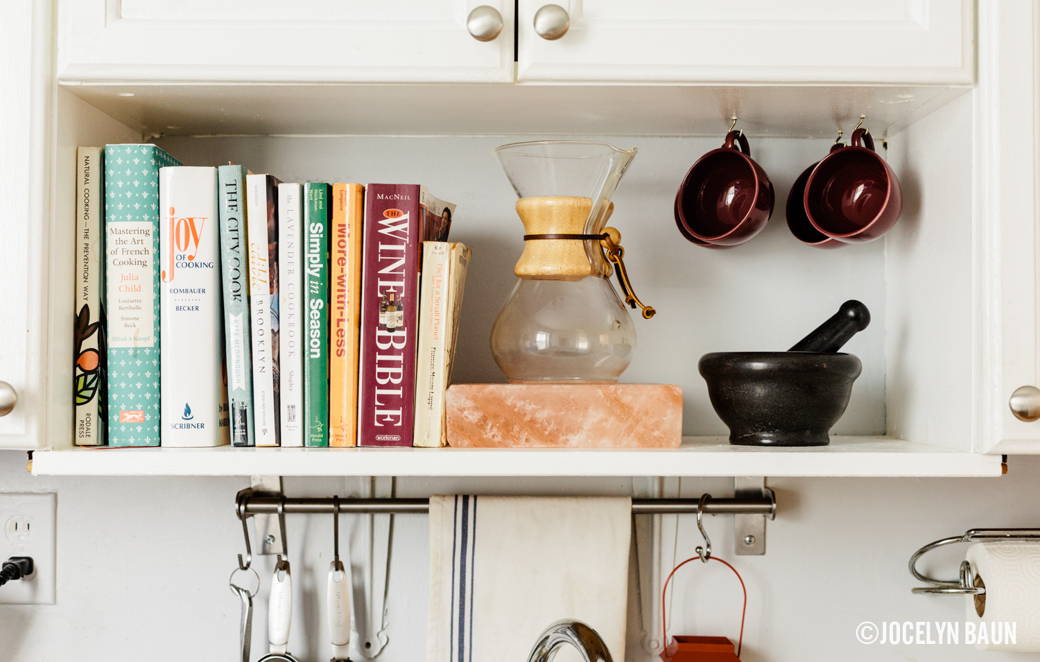 bkstyled Rima Campbell cookbooks chemex