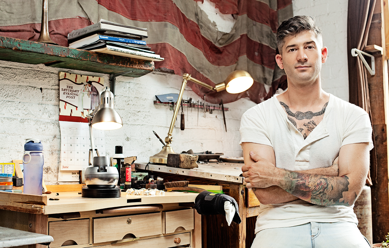 Aaron Ruff, jewelry designer, Digby & Iona