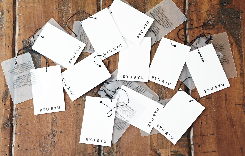 RYU RYU clothing tags
