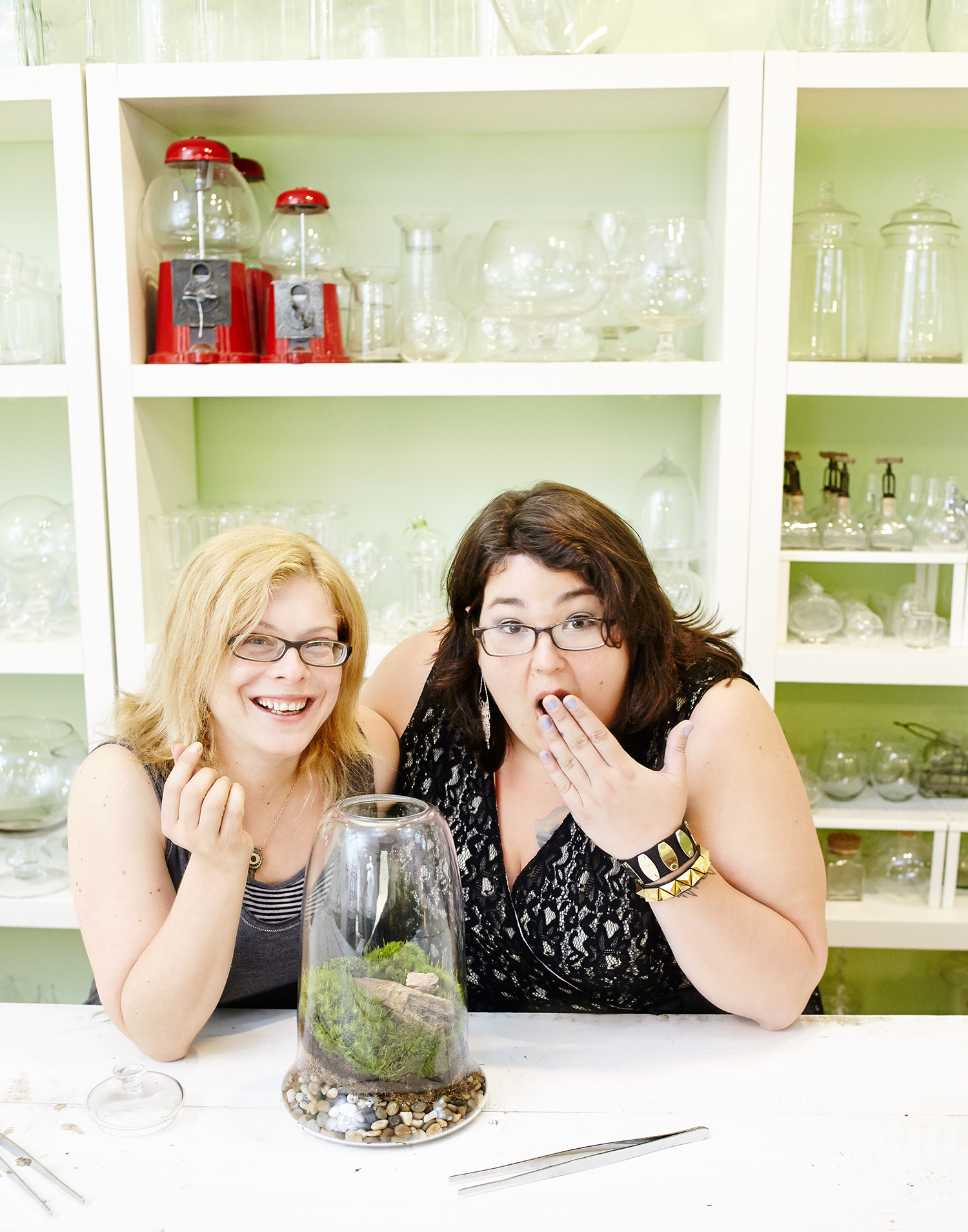 Michelle Inciarrano and Katy Maslow, owners, Twig Terrariums.