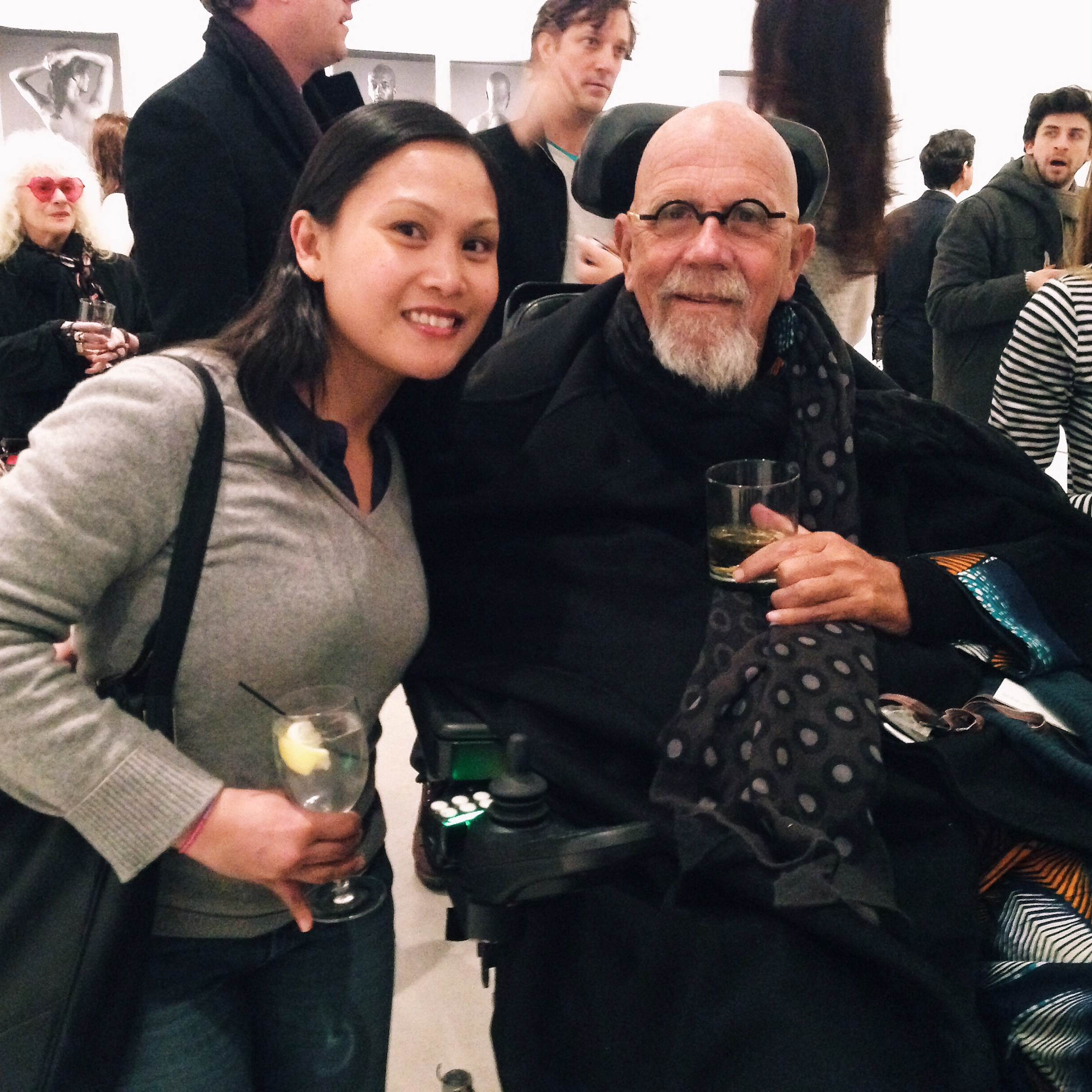 I'm such a dork with Chuck Close!