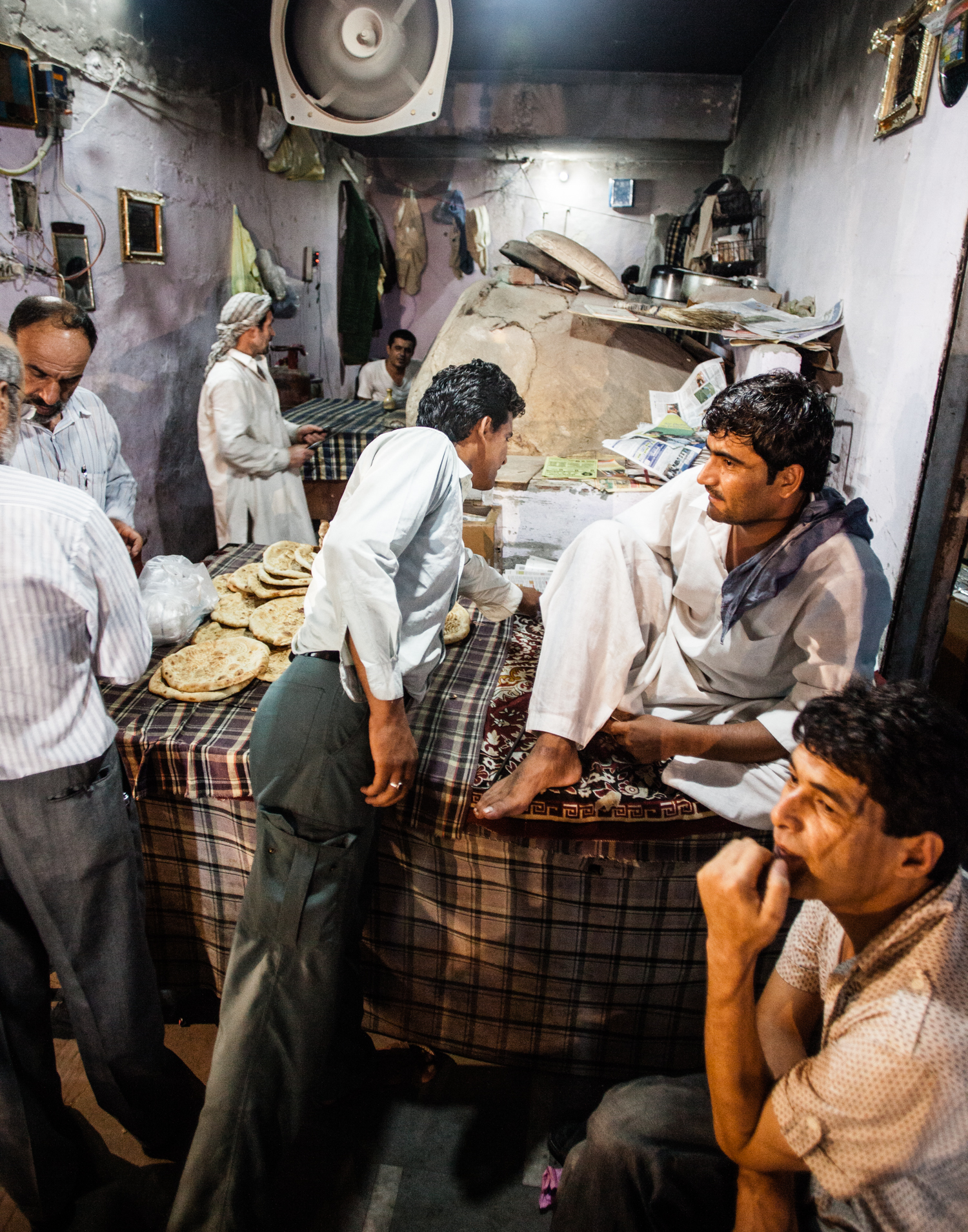 Jangpura Bhogal, New Delhi - Bhogal's Afghan bakery is a popular spot at night not only to buy bread but many come to hang out.  Mint, a business daily newspaper