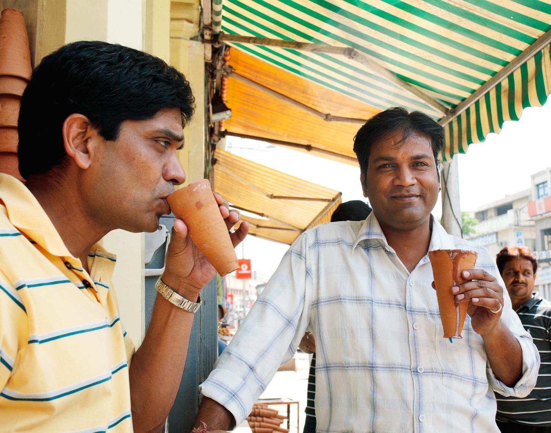"Jaipur, Rajasthan - The ""real"" LassiWala shop.  Singapore Airlines SilverKris"