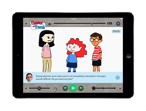In Discuss Mode, the characters appear to ask kids questions about what they're watching.  Download this image.