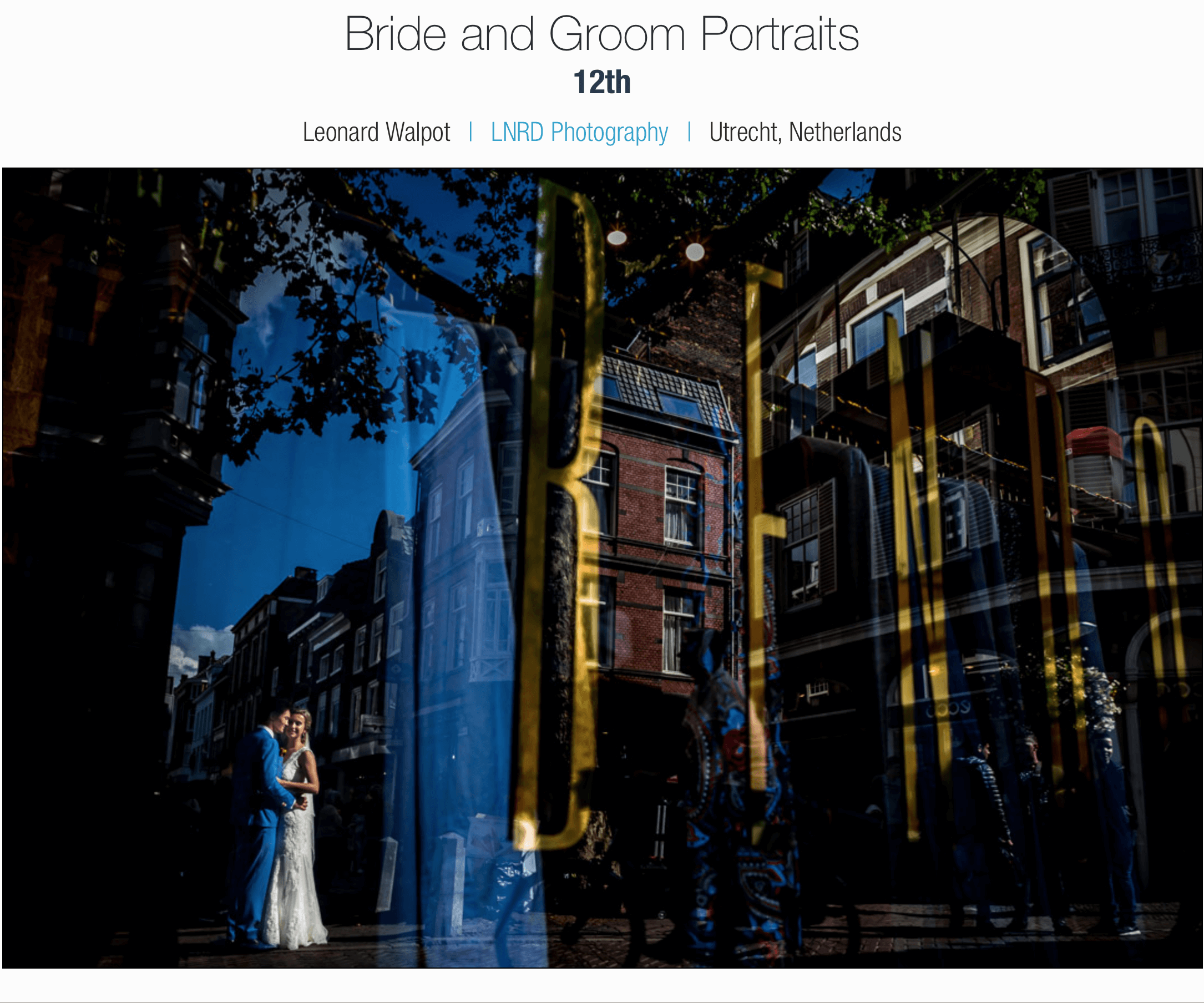 International Society of Professional Wedding Photographers (ISPWP)  - winter 2016
