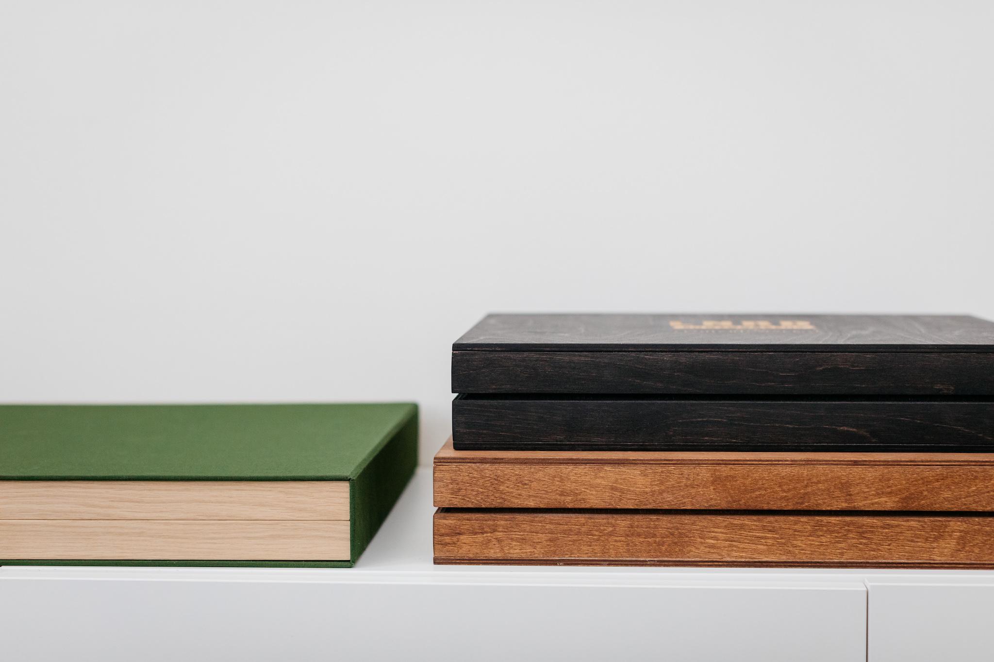 bruidsfotograaf - albums met houten box