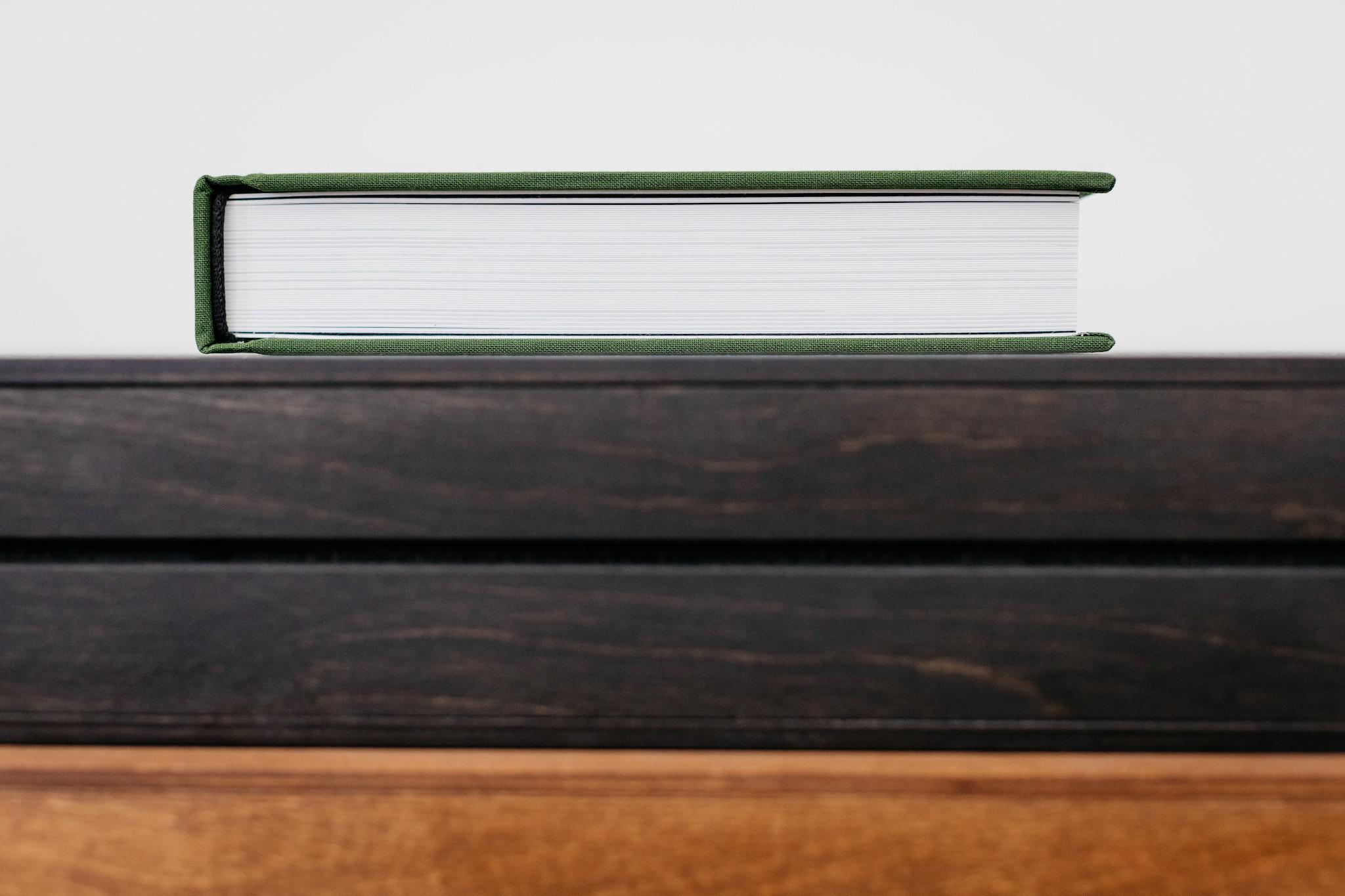 exclusief linnen trouwalbum in houten box