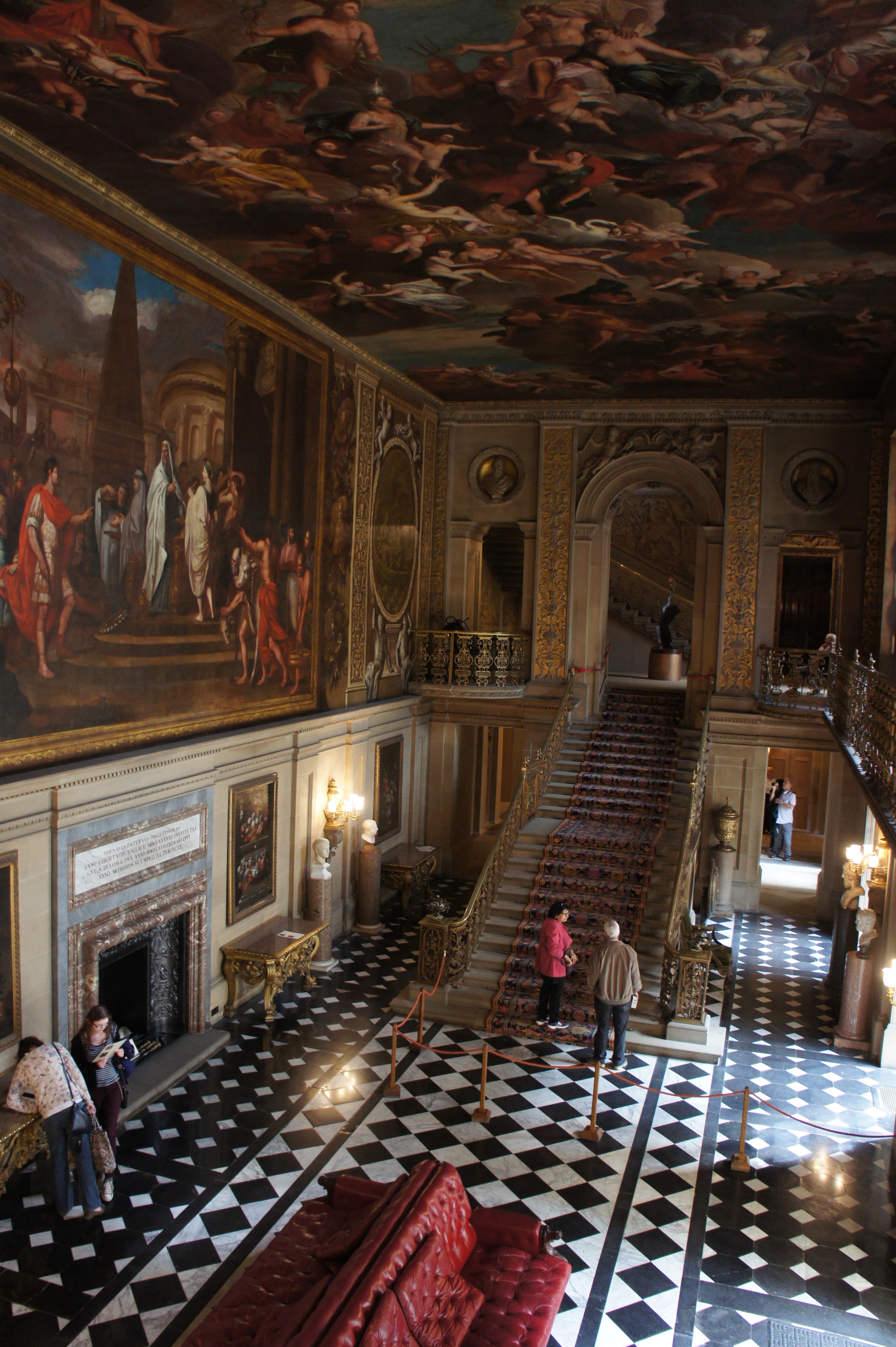 The Painted Hall in Chatsworth is also recognisable from the movie as Lizzy hesitates here during the tour of the house.
