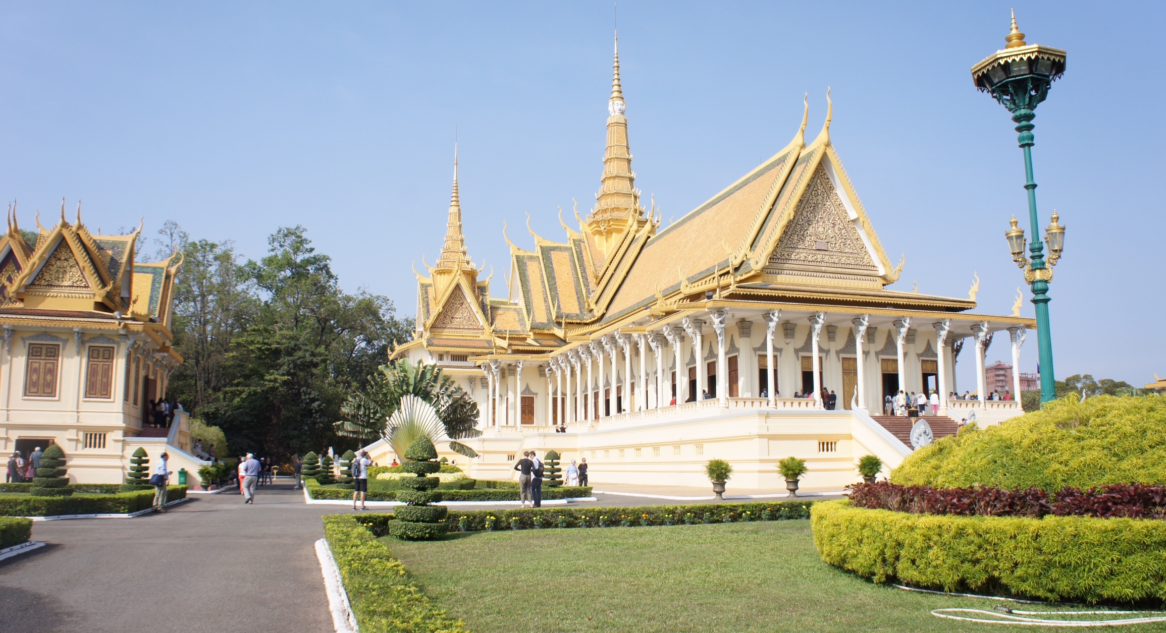 The throne hall of the Royal Palace in Phnom Penh, Cambodia