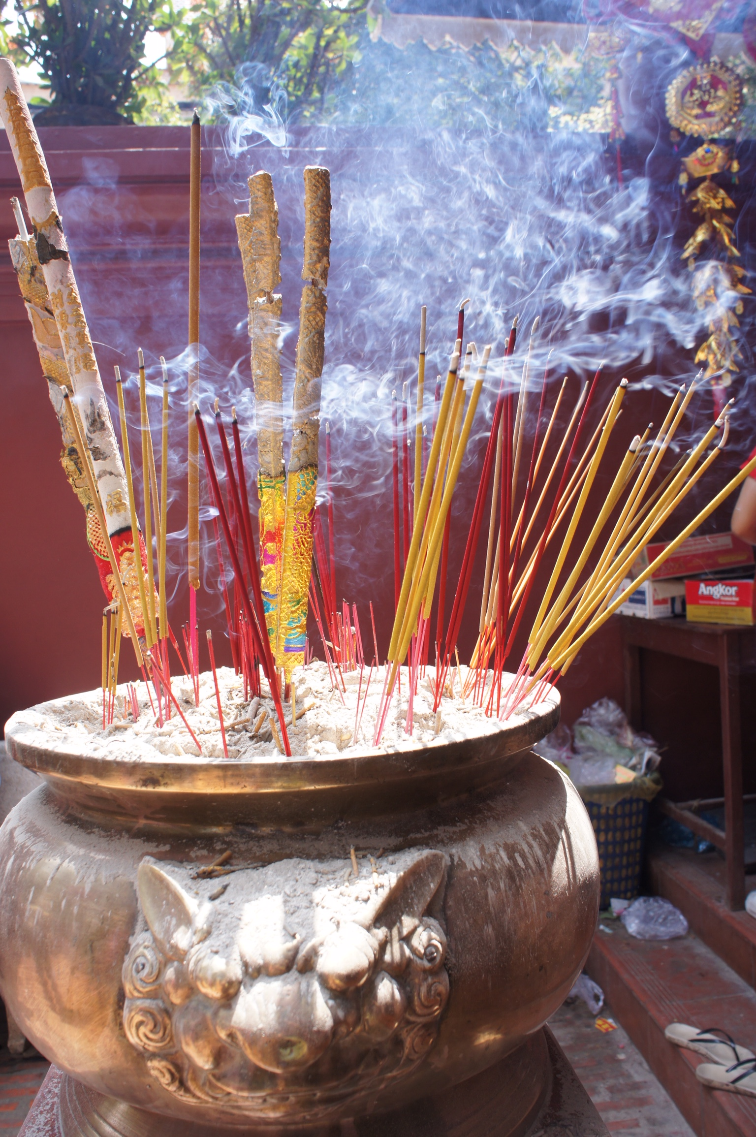 Incense burning for the Lunar New Year