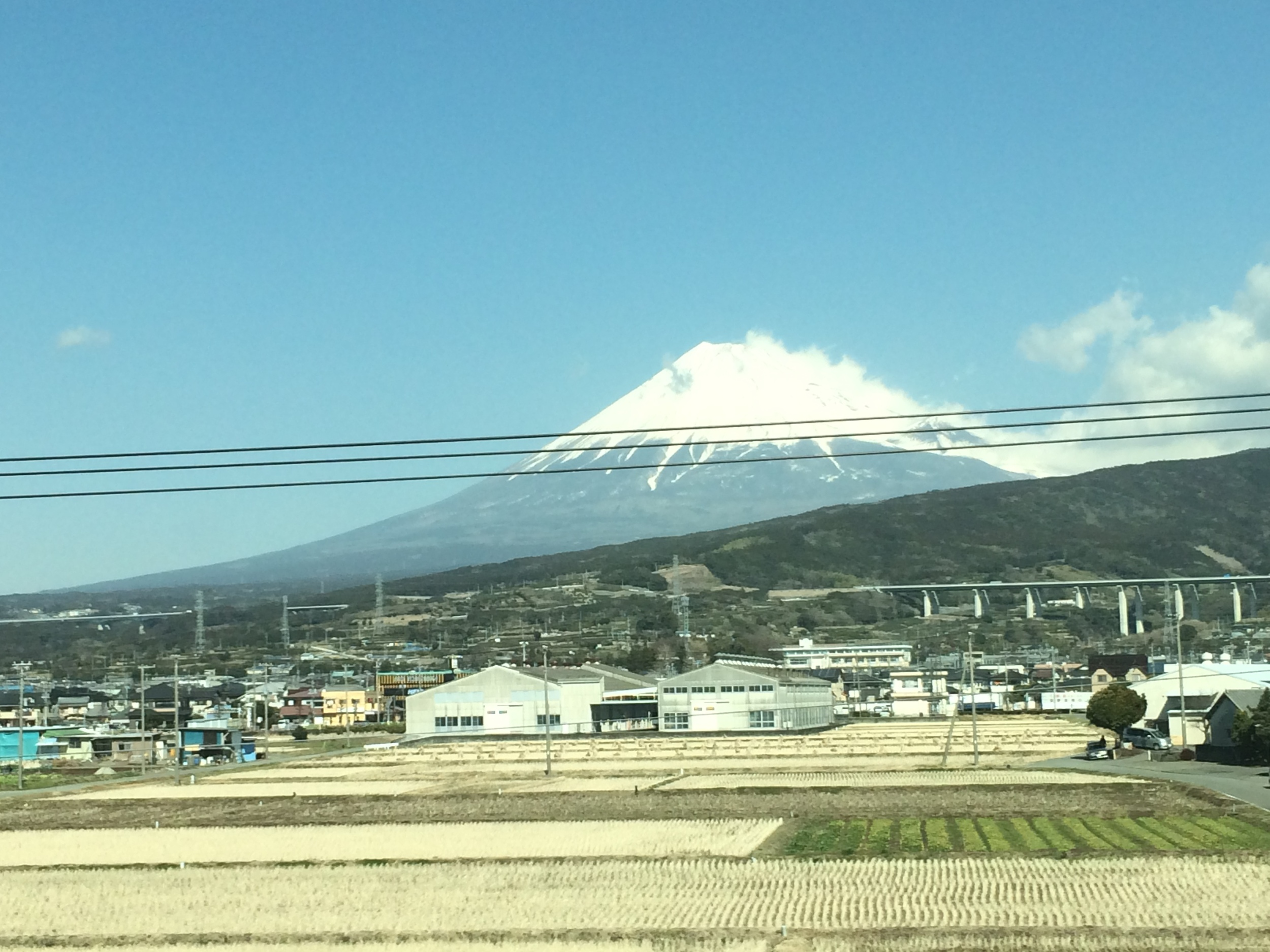 Mount Fuji from the bullet train.