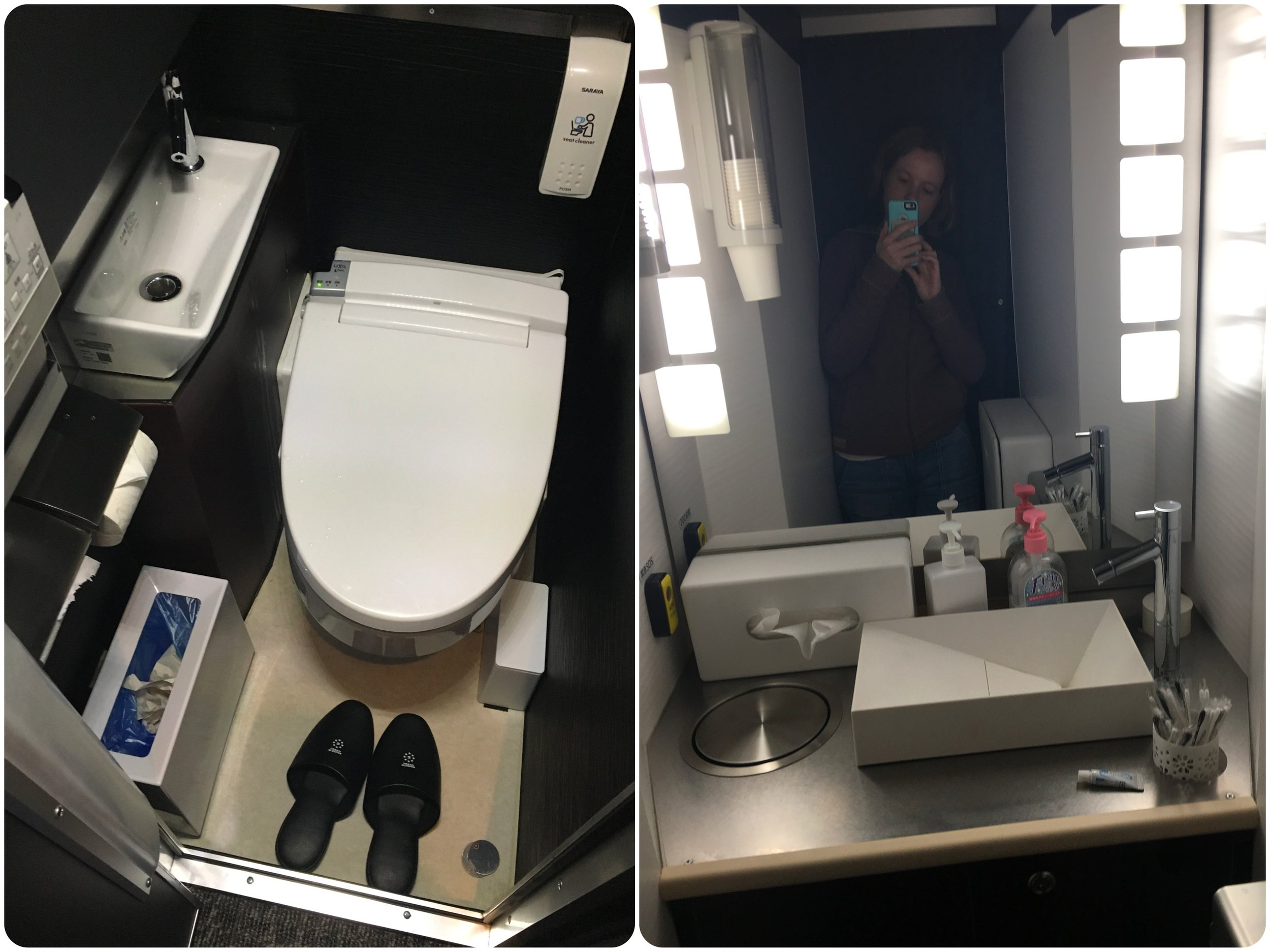 Toilet and 'powder room'.