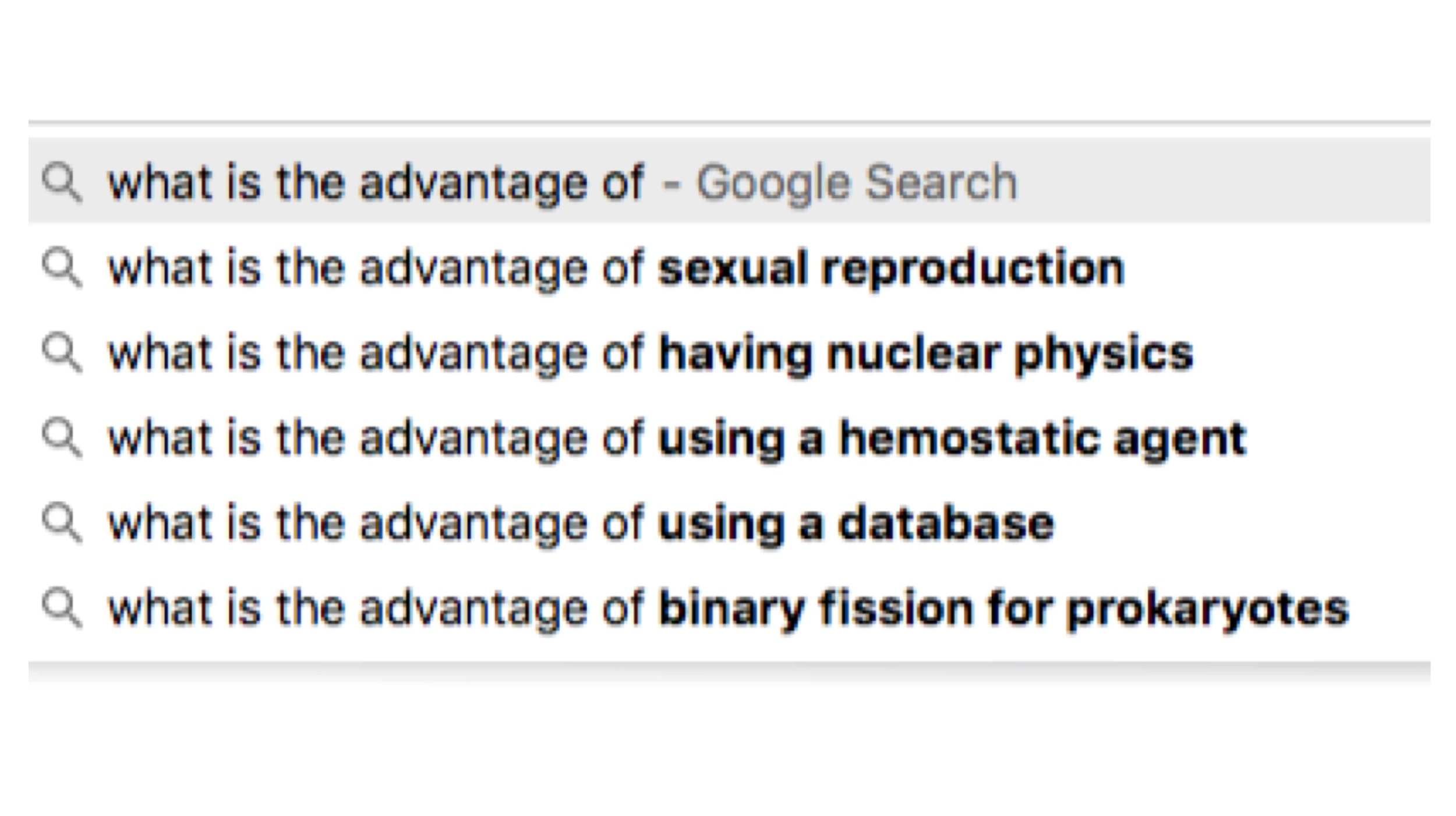 """I began typing into google """"what is the advantage of autoinjectors""""... this was the suggested auto-complete. The Universe is not of one mind."""