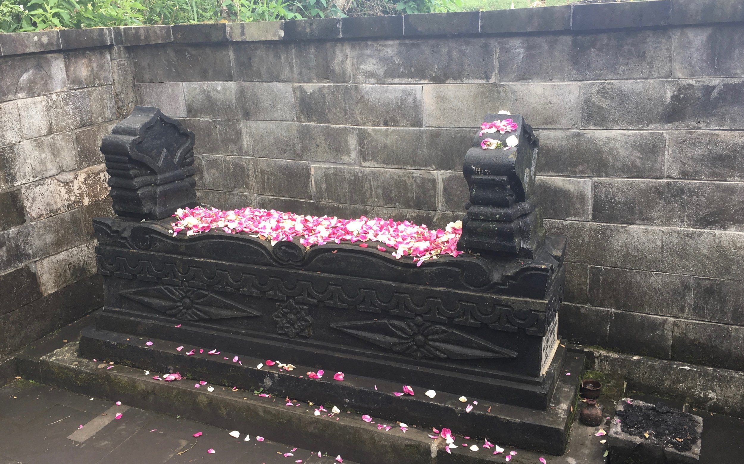 The grave of Mbah Maridjan, caretaker of Mt Merapi.