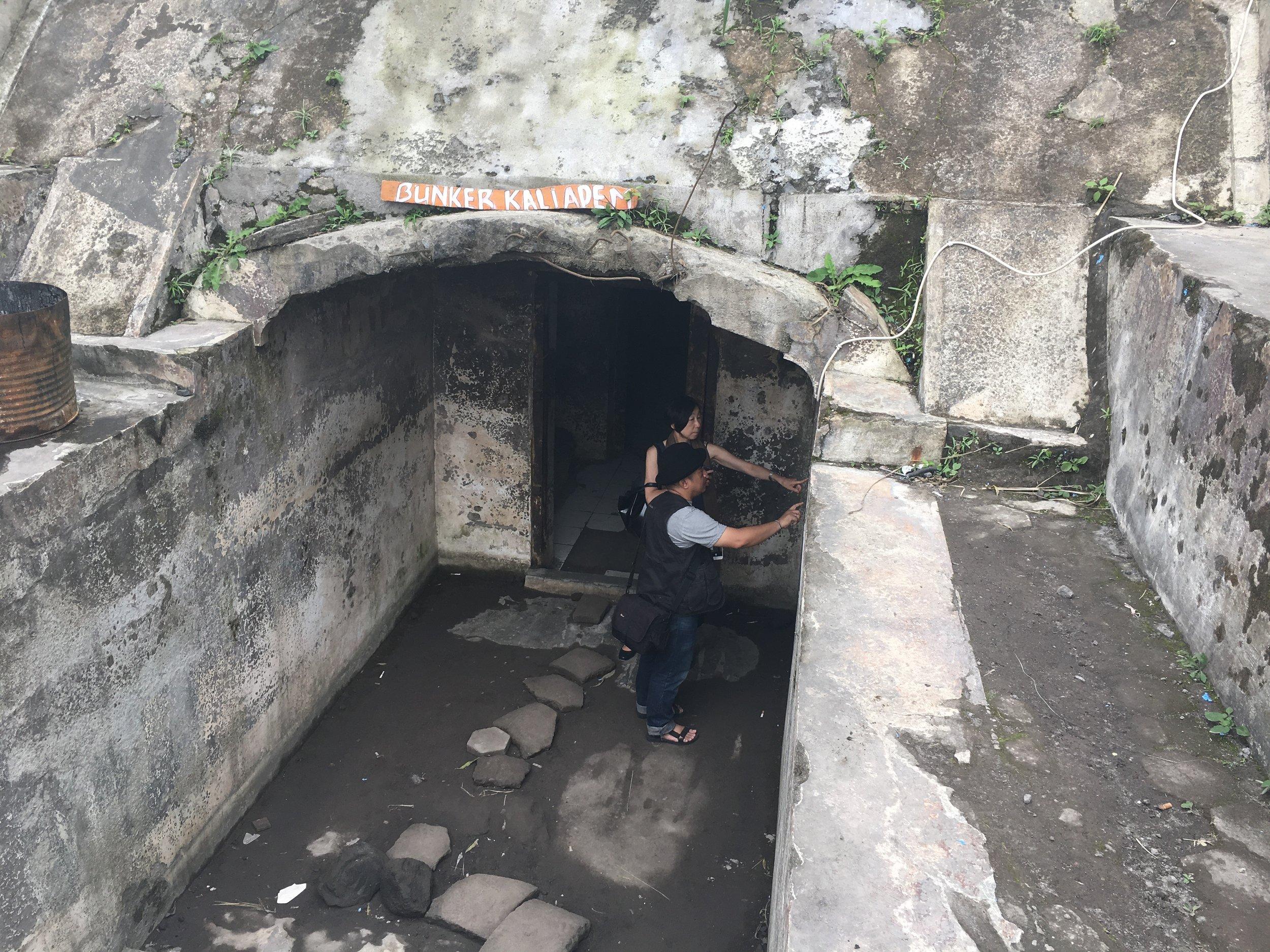 Bunker entrance at Kaliadem.