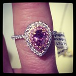 Ring by  Pancis Gems  featuring a rare pink Argyle diamond