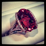 Imperial Topaz Ring with diamonds, set in rose gold - my kind of pretty in pink! By  Omi Prive